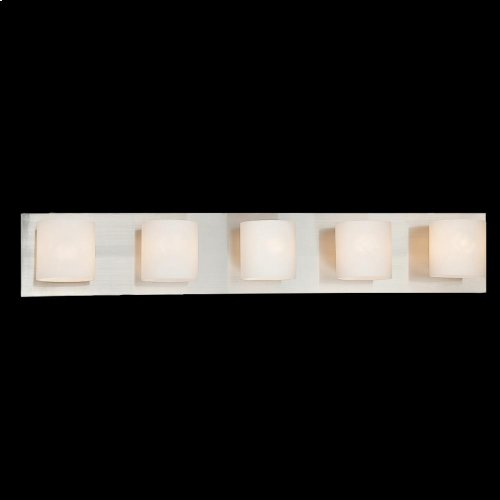 5-LIGHT BATHBAR - Satin Nickel