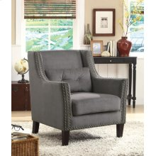 Transitional Grey Accent Chair