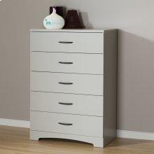 5-Drawer Chest Dresser - Soft Gray