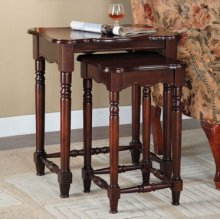 """Brown Cherry"" 2-Pc. Nested Accent Tables - overpacked"