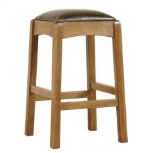 Bar Stool, Oak Backless Stool