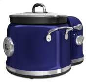 4-Quart Multi-Cooker with Stir Tower Accessory and Recipe Book - Cobalt Blue Product Image