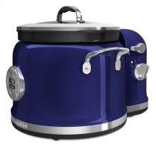 4-Quart Multi-Cooker with Stir Tower Accessory and Recipe Book - Cobalt Blue