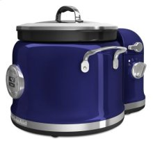 4-Quart Multi-Cooker with Stir Tower Accessory and Recipe Book - Cobalt Blue
