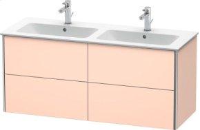 Vanity Unit Wall-mounted, Apricot Pearl Satin Matt Lacquer