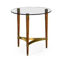 Hyedua & Glass Round Lamp Table