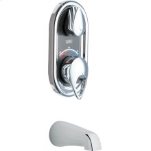 TempShield Thermostatic Pressure Balancing Shower Valve with Diverter Tub Spout
