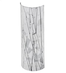 """5""""W X 14""""H Metro Fusion Branches Glass Cylinder Shade"""