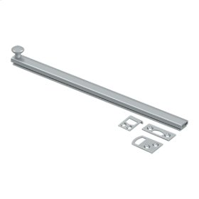 """12"""" Surface Bolt, Concealed Screw, HD - Brushed Chrome"""