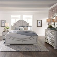Queen Panel Bed, Dresser & Mirror, N/S