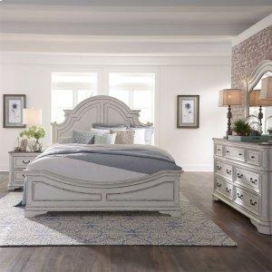 Liberty Furniture Industries Queen Panel Bed, Dresser & Mirror, N/s