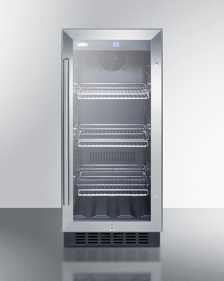 Wide Built In Undercounter Gl Door Beverage Cooler For Home Or Commercial Use With Digital Controls Lock Led Light And Stainless Steel Cabinet