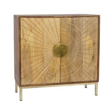 Brown/gold Sunburst Cabinet
