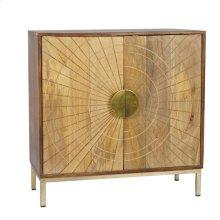 Brown/gold Sunburst Cabinet