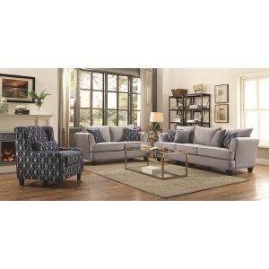 Hallstatt Casual Grey Three-piece Living Room Set