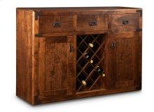 Saratoga Sideboard w/2 Wood Doors & 3/Dwrs & 2/Wood Adjust. & Wine Rack