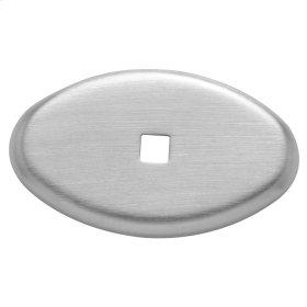 Satin Chrome Knob Back Plate