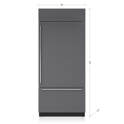 "36"" Classic Over-and-Under Refrigerator/Freezer - Panel Ready"