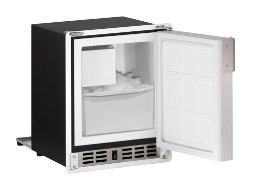 "Marine Series 15"" Marine Crescent Ice Maker With White Solid Finish and Field Reversible Door Swing"