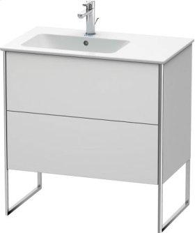 Vanity Unit Floorstanding, White Satin Matt Lacquer