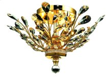 2011 Orchid Collection Flush Mount Gold Finish
