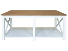 Cocktail Table, Available in Hampton White Finish Only.