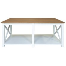 Cocktail Table, Available in Hampton White or Hampton Grey Finish.