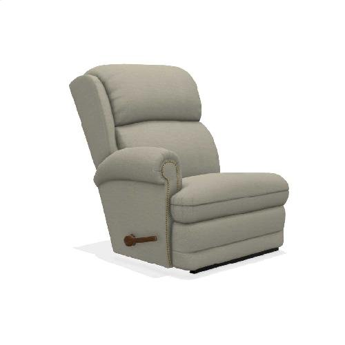Kirkwood Right-Arm Sitting Rocking Recliner w/ Brass Nail Head Trim