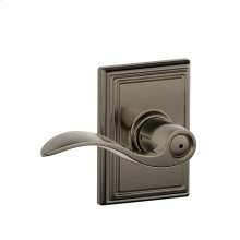 Accent Lever with Addison trim Bed & Bath Lock - Antique Pewter