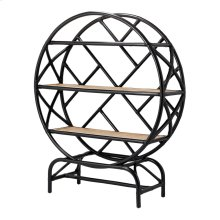 Sonia KD Rattan Bookcase, Black/ Natural