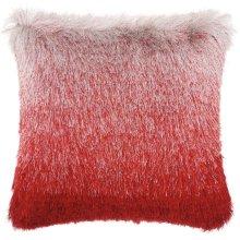 """Shag Tr011 Red/silver 20"""" X 20"""" Throw Pillows"""