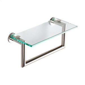 "Polished Nickel 12"" Shelf with Towel Bar"
