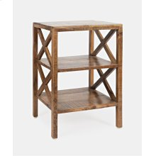 Global Archive Dylan X-side Table-amber