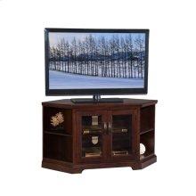 "Chocolate & Black Glass, 46""W TV Stand #81287"