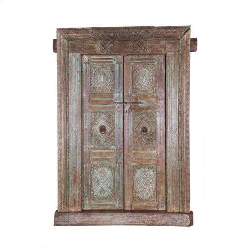 Antique Reclaimed Doors With Frame Ue66