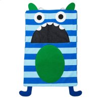 Blue Stripe Monster Laundry Bag. Product Image