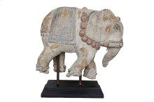 Weathered Elephant On Stand