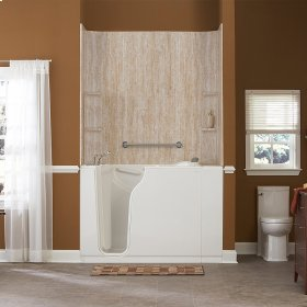 Premium Series 30x52-inch Walk-In Tub with Whirlpool System  American Standard - Linen
