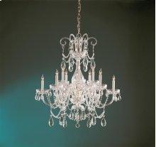 Traditional Crystal12 Light Crystal Brass Chandelier II