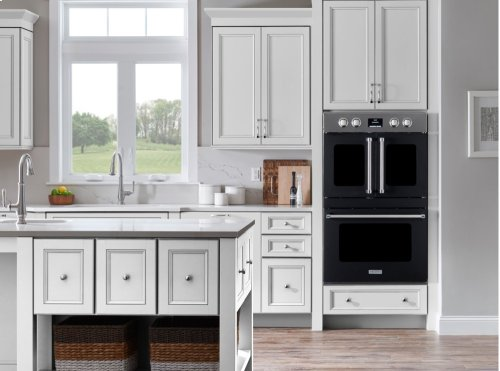 """30"""" Electric Double Wall Oven with Drop Down Doors"""