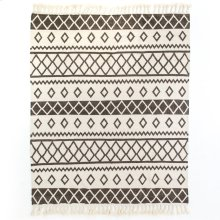 9'x12' Size Grey Patterned Rug