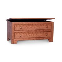 Shaker Blanket Chest with False Fronts, Fabric Cushion Top Product Image