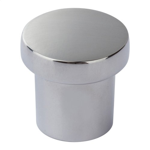 Chunky Round Knob Small 1 Inch - Polished Chrome
