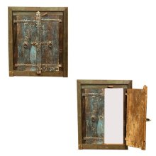 Painted Wall Mirror W/Doors