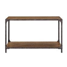 Indstrl Wd & Metal Sofa Table