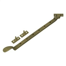 "13"" Colonial Casement Stay Adjuster - Antique Brass"