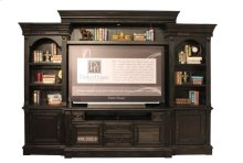 """4pc Entertainment Wall,tv Area: 63w X 43h, Winged Backpanel, Shelf Holes Extend From Console Up 33 3/4"""" (6 Positions Every 1 1/4"""")"""