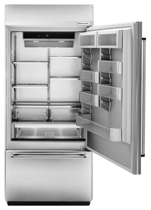 """Built-In Panel Ready Bottom Mount Refrigerator 20.9 Cu. Ft. 36"""" Width - Stainless Steel"""