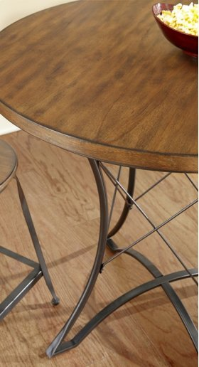 """Adele Round Counter Table, 36"""" x 36"""" x 36"""""""