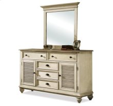 Coventry Shutter Door Dresser Weathered Driftwood/Dover White finish